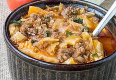 Crock Pot Low Carb Un-Stuffed Cabbage Roll Soup – Land Of Recipes