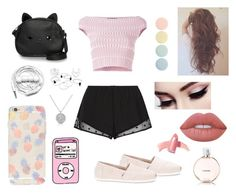 """""""Fair-Weather"""" by nightlight62 ❤ liked on Polyvore featuring Princesse tam.tam, Alexander McQueen, TOMS, Loungefly, Sonix, Lime Crime, Urbanears, Elizabeth Arden, Chanel and Deborah Lippmann"""