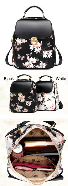 Fresh Girl Butterfly Flower School Bag Casual Backpack for big sale! #school #backpack #Bag #butterfly #flower #fresh