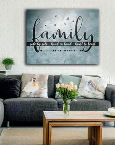 Homemade wall decorations - Bedroom Wall Art Family Side By Side(Wood Frame Ready To Hang) Wall Decor, Farmhouse Decor, Homemade Wall Decorations, Diy Home Decor, Living Room Decor, Home Decor, Bedroom Wall Art, Bedroom Wall, Bedroom Decor