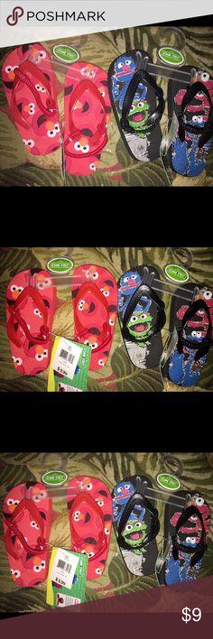Boys size 5/6 Sesame Street flip flops. NWT! 2 pairs of boys Sesame Street flip flops size 5/6. Sesame Street Shoes Sandals & Flip Flops