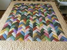 This quilt used one jelly roll. The fabrics is from the ...