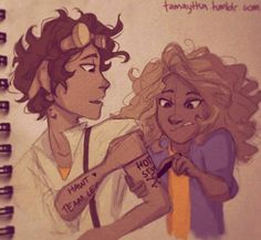 Leo Valdez and Hazel | Tumblr