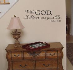 With God All Things Are Possible wall decal by AriseDecals on Etsy