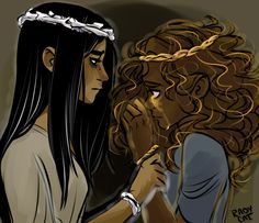 ITS NOT FAIR Bianca di Angelo  Hazel Levesque.   artist: http://radycat.tumblr.com