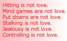 Love Is Not Violence | Abuse is not love. | Alliance for Community Transformations