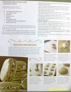 Pistachio Macaroons with Cannoli Cream