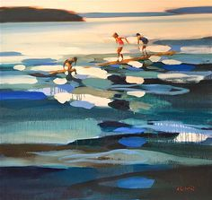 three sisters by elizabeth lennie Painting Inspiration, Art Inspo, Beach Art, Art For Art Sake, Art Design, Art Plastique, Landscape Art, Figurative Art, Painting & Drawing
