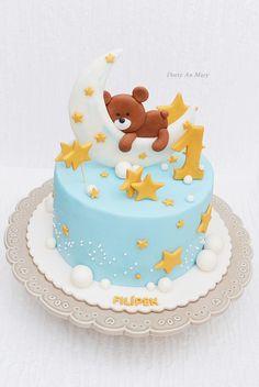 Sleep tight by Cakes by Toni Baby Boy Birthday Themes, Boys 1st Birthday Cake, Birthday Ideas, Baby Boy Cakes, Baby Shower Cakes, Sleep Tight, Cake Designs For Kids, Teddy Bear Cakes, Beautiful Birthday Cakes