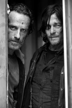 The Walking Dead.  Rick Grimes and Daryl Dixon.