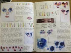 Marion Bolognesi Artist research page by Brandon Fong Nice font A Level Art Sketchbook, Sketchbook Layout, Textiles Sketchbook, Arte Sketchbook, Sketchbook Pages, Sketchbook Inspiration, Art Journal Pages, Sketchbook Ideas, Journal Inspiration