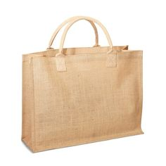 J0075 Jute Shopping tote with Cotton Webbed handles