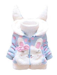 BibiCola Cute Hooded Girls Coat New Autumn Winter Cartoon Kids Girls  Jackets Outerwear Children Girls Clothing Baby Tops Jacket 05c7690e8