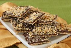 matzo-toffee - so easy and so delicious!  can be made with saltine crackers too.
