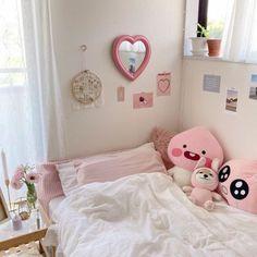 Cute Bedroom Decor, Room Design Bedroom, Room Ideas Bedroom, Study Room Decor, Room Setup, Room Ideias, Otaku Room, Pastel Room, Cute Room Ideas