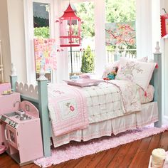 Girly bed, and so many colors to choose from!