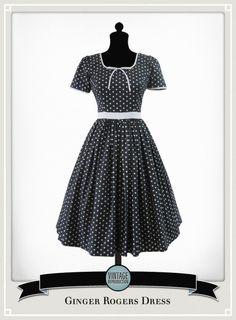 1950's style polka dot dress. So stinkin' cute.