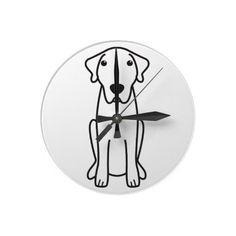 Anatolian Shepherd Dog Cartoon Round Wall Clock
