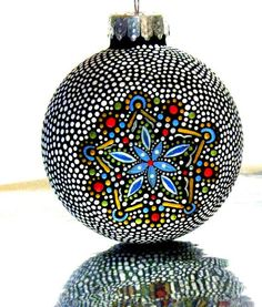 Hollow Glass Christmas Ornament Hand Painted I accidentally bought 8 ...