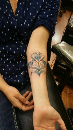 My new tattoo! Delft style tulips.