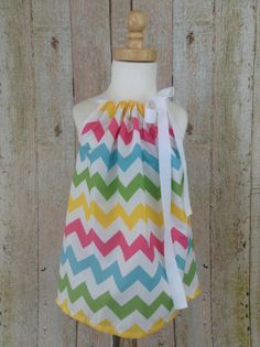 Outfit  Chevron  Rainbow  Pillowcase Dress  by MultiTaskingMaven, $22.00