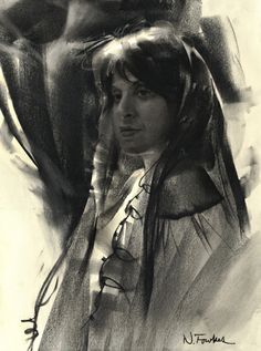 Charcoal portrait by Nathan Fowkes