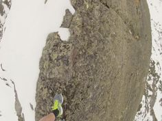 Risking my life on the top of the mountain in Switzerland