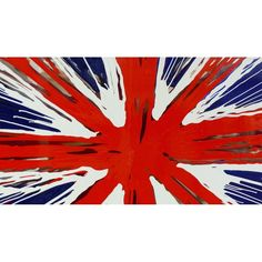 Painted Pop art union jack flag, cool abstract piece, painted for well known celebrities in New York and London, retro art painting by artist British jack UK Union Jack Decor, Vibrant Colors, Colours, Flag Painting, Framed Art, Wall Art, Retro Art, Picture Wall, Red And White