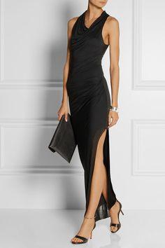 Helmut Langdraped micro modal maxi dress. Stunning