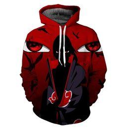 Naruto Sasuke 3d Anime Hoodie Sweatshirt Male Long Sleeve Outerwear Pullovers One Piece Anime Jacket Men