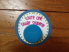 Give a hand held pencil sharpener for the first day.might help with getting up constantly. -Primarily Speaking: Classroom Images, Classroom Decor, Student Gifts, Teacher Gifts, Look What I Made, First Day Of School, Teaching, Education, Pencil Sharpener