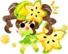 フリーのイラスト素材スターフルーツのドレスを着た少女のイラスト  Free Illustration The illustration of the girl in the star fruit dress   http://ift.tt/2lpmlWj