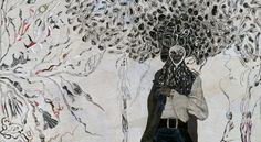 Ellen Gallagher, Bird in Hand, 2006 Basquiat Prints, Erwin Wurm, Bird People, Black N White, Mark Making, Love Art, Art Drawings, Collage, Concept