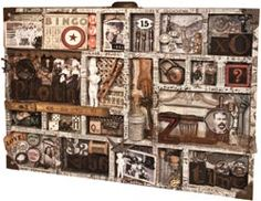 Configurations Print Tray Shadow Box by Tim Holtz Idea-ology, x Inches, Paper, Plain, Altered Boxes, Altered Art, Diy Shadow Box, Found Object Art, Assemblage Art, Tim Holtz, Miniature Dolls, Fun Crafts, Framed Art
