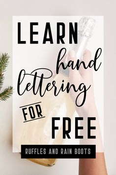 Learn Hand Lettering Have you ever wanted to letter your own bullet journal, cards, gifts, and more? You can learn how to letter with these free brush lettering and modern calligraphy practice sheets. Hand Lettering 101, Hand Lettering For Beginners, Calligraphy For Beginners, Hand Lettering Practice, Hand Lettering Alphabet, Hand Lettering Tutorial, Calligraphy Practice, Creative Lettering, Brush Lettering