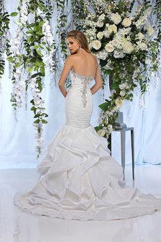Mermaid skirt wedding dress from Impression Bridal. #dress