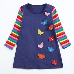 Horse Heartbeat Shirt Baby Girls Flounced O-Neck Tee Shirts for 2-6 Years Old Baby