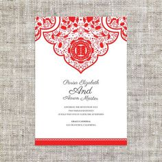 Diy printable editable chinese wedding invitation rsvp card template diy printable editable chinese wedding invitation card template instant downloadelegant red floral motif double happiness stopboris Image collections