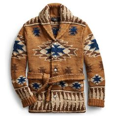 Add timeless elegance to your wardrobe with Ralph Lauren's collection of men's designer knitwear. Discover luxury cashmere jumpers, wool cardigans and more. Western Outfits, Western Wear, Hippie Style, Fall Winter Outfits, Winter Fashion, Estilo Cool, Belted Cardigan, Ralph Lauren Style, Boho Stil