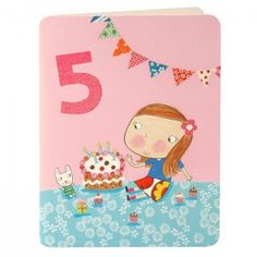 Girl Age Five Card