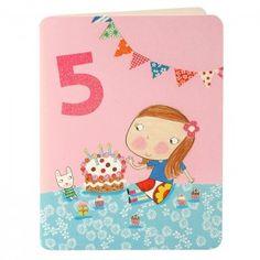 Girl Age Five Card