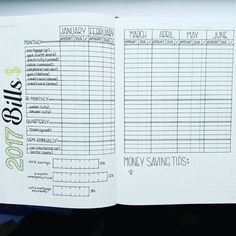 """947 Likes, 18 Comments - A Hayden (@craftyenginerd) on Instagram: """"Trying to get some spreads set up for 2017. Here's my idea for a Bills Tracker. Inspired by…"""""""