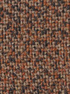 2 Mts Quality Orange /& Brown Tweed Upholstery Fabric Seats VW Camper Van