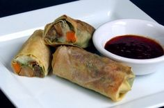 Thanksgiving Spring Rolls wrapped in yuba
