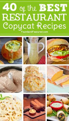 Awesome restaurant copycat recipes. These are ALL my favorites!
