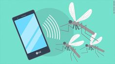 """The smartphone, launched this week at the India Mobile Congress in New Delhi, carries LG's trademark """"mosquito-away"""" technology."""