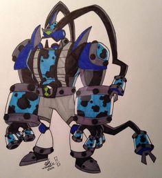 Last OC Fusion! Here's Nuke 'em (Atomix) and Outlet (Feedback), NukeOut! Aliens, Phoebe Thunderman, Ben 1000, Ben 10 Comics, Generator Rex, Hi Boy, Ben 10 Omniverse, Kid Cobra, Alien Design