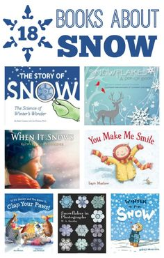 18 Books About Snow for Kids~Includes fiction and nofiction books that kids will… Winter Activities, Learning Activities, Activities For Kids, Teaching Ideas, Winter Fun, Winter Theme, Winter Ideas, Toddler Books, Childrens Books
