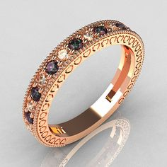 alexandrite, diamond, and rose gold-- my birthstone, diamonds AND my new fav kind of gold!? must have!!!