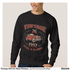 Vintage Gift For Men/Women. 26th Birthday T-Shirt. Sweatshirt - Outdoor Activity Long-Sleeve Sweatshirts By Talented Fashion & Graphic Designers - #sweatshirts #hoodies #mensfashion #apparel #shopping #bargain #sale #outfit #stylish #cool #graphicdesign #trendy #fashion #design #fashiondesign #designer #fashiondesigner #style
